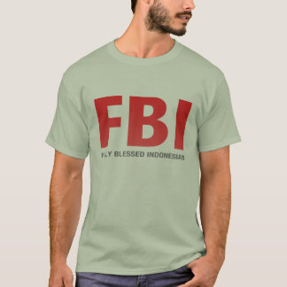 Camiseta Indonésio inteiramente abençoado do FBI