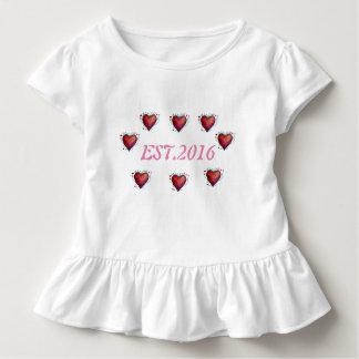 Camiseta Infantil 2016 T da criança estabelecido, ø aniversário do