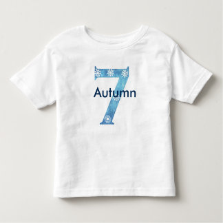 Camiseta Infantil 7o aniversário isnpired inverno
