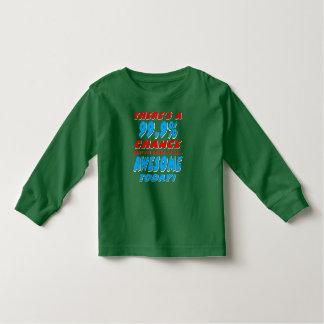 Camiseta Infantil 99,9% IR SER IMPRESSIONANTE (branco)