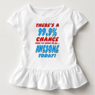 Camiseta Infantil 99,9% IR SER IMPRESSIONANTE (preto)