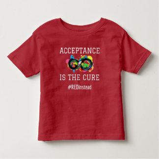 Camiseta Infantil A aceitação é a cura impressionante autística