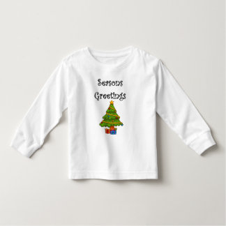 Camiseta Infantil A árvore de Natal tempera cumprimentos