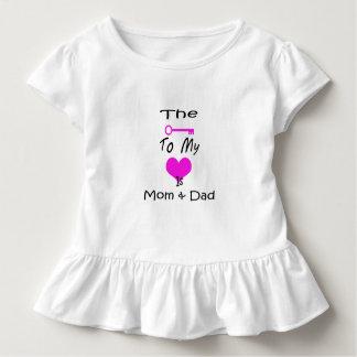 Camiseta Infantil A chave a meu T do plissado da criança do coração