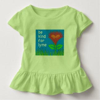 Camiseta Infantil A consciência da doença de Lyme caçoa o t-shirt