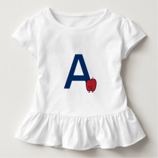 Camiseta Infantil A é para a aprendizagem da letra do ABC do