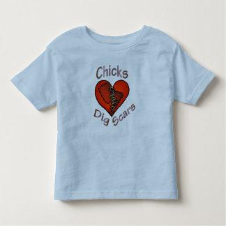 Camiseta Infantil A escavação dos pintinhos Scars o t-shirt
