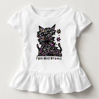 """Camiseta Infantil A """"fortuna engana"""" o T do plissado da criança"""