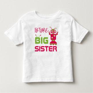 Camiseta Infantil A irmã mais velha futura do robô caçoa o irmão