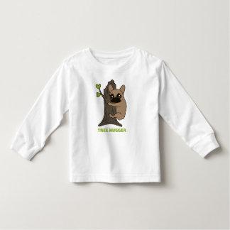 Camiseta Infantil A jovem corça preta Frenchie da máscara é um