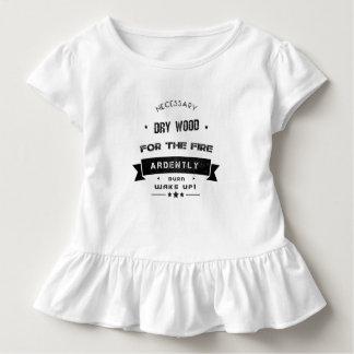 Camiseta Infantil A madeira seca é necessária