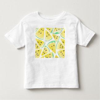 Camiseta Infantil A melancia amarela corta o teste padrão