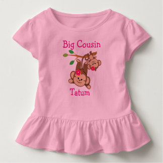 Camiseta Infantil A menina personalizada Monkeys o primo grande