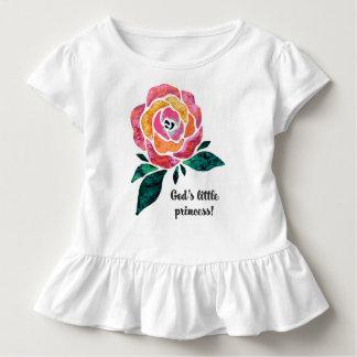 Camiseta Infantil A princesa pequena Moderno Criança Plissado T do