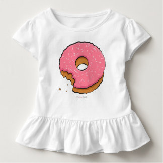 Camiseta Infantil A rosquinha cor-de-rosa Munched caçoa a roupa