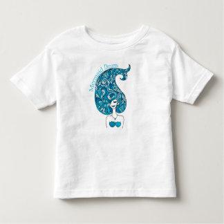 Camiseta Infantil A sereia sonha o t-shirt