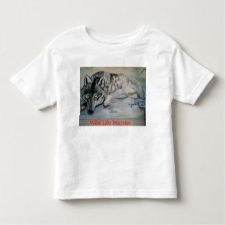 Camiseta Infantil A T-Camisa de Todler selvagem do guerreiro da vida