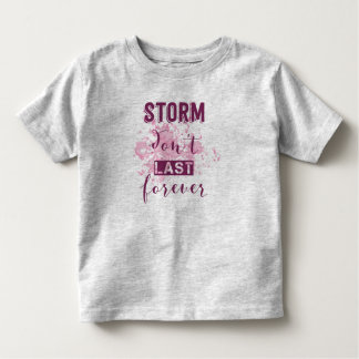 Camiseta Infantil A tempestade de inspiração não dura para sempre a