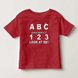 Camiseta Infantil ABC olha quem é o impressão 3