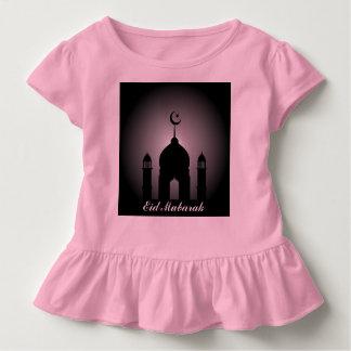 Camiseta Infantil Abóbada da mesquita e silhueta do minarete