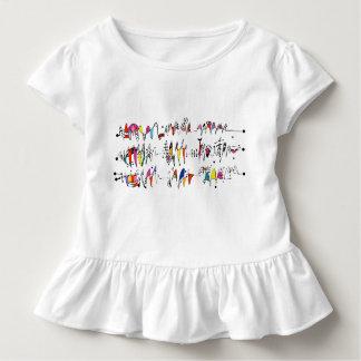 Camiseta Infantil Abstracção das linhas undulating