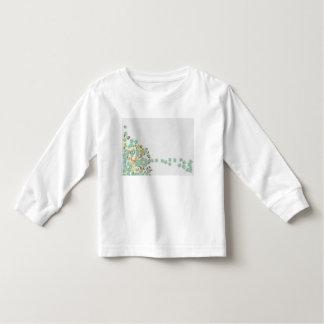 Camiseta Infantil Abstrato caído da árvore
