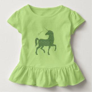 Camiseta Infantil Acredite o cavalo mágico Clipart da fantasia do