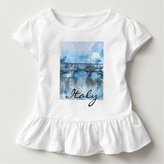Camiseta Infantil Aguarela de Florença Italia