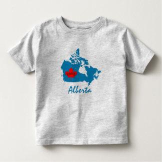 Camiseta Infantil Alberta personaliza o azul da província de Canadá