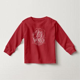 Camiseta Infantil Alegria ao vermelho do Natal da caligrafia do rico