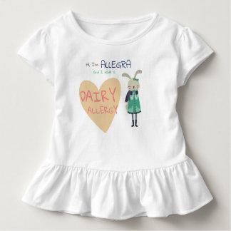 Camiseta Infantil Alergia animal do miúdo do coelho do inverno