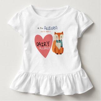 Camiseta Infantil Alergia animal do miúdo do Fox do inverno bonito