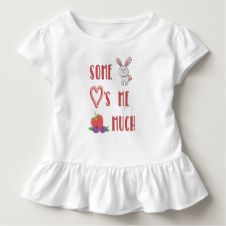Camiseta Infantil Algum coelho ama-me baga muito t-shirt