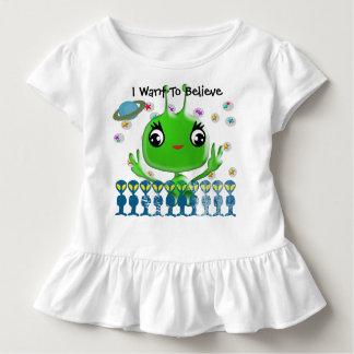 Camiseta Infantil Alienígena ultra bonito do bebê