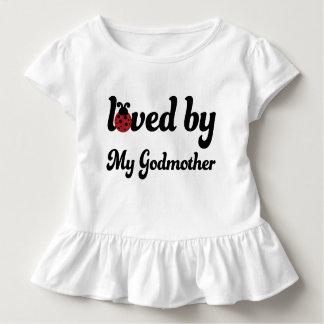 Camiseta Infantil Amado por meu T das meninas da criança do joaninha