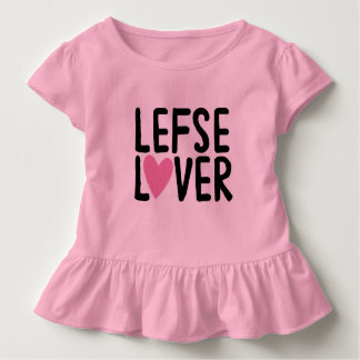 Camiseta Infantil AMANTE do T LEFSE do plissado da criança