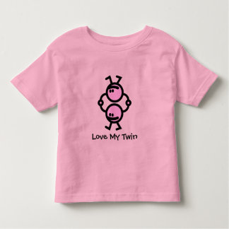 Camiseta Infantil Ame meu gêmeo