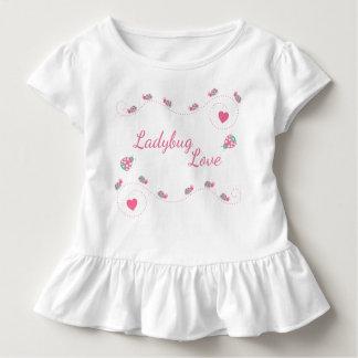 Camiseta Infantil Amor bonito do joaninha
