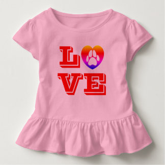 Camiseta Infantil Amor de filhote de cachorro