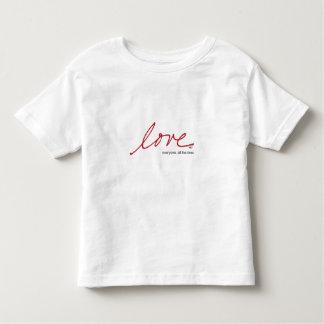 Camiseta Infantil Amor todos, toda a hora