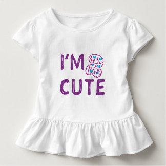 Camiseta Infantil Aniversário bonito da borboleta dois