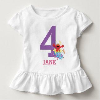 Camiseta Infantil Aniversário da menina do Sesame Street | Elmo o 4o