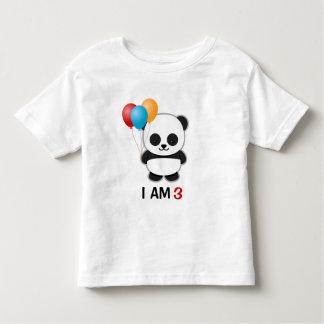 Camiseta Infantil Aniversário do balão da panda