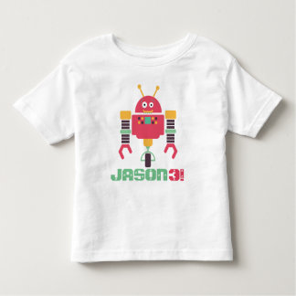 Camiseta Infantil Aniversário do robô