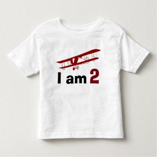 Camiseta Infantil Aniversário plano vermelho liso