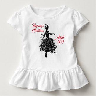 Camiseta Infantil Anjo 2017 do Natal da mamã