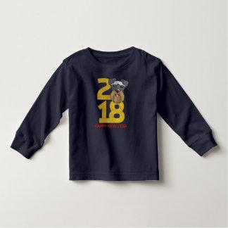 Camiseta Infantil Ano dos Schnauzers diminutos do ano novo do cão