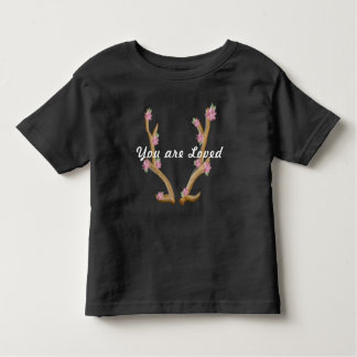 Camiseta Infantil Antler florido de Boho