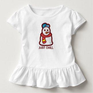 Camiseta Infantil Apenas T frio engraçado do plissado do boneco de