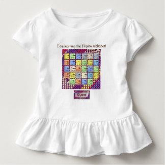 Camiseta Infantil Aprendendo o alfabeto filipino